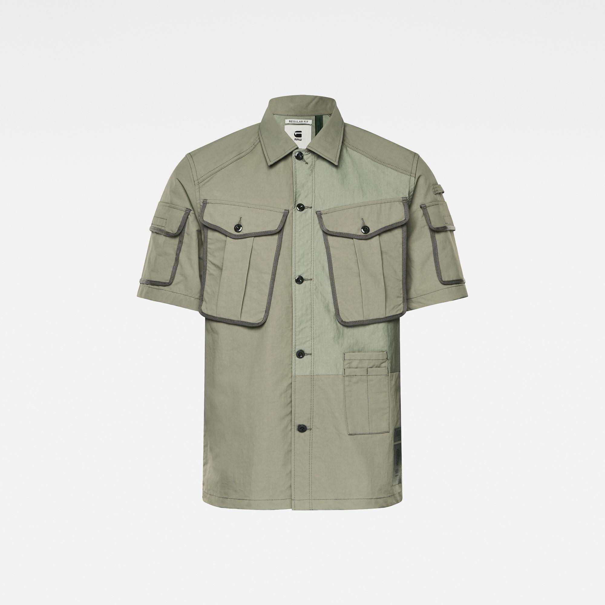 G-Star RAW Heren E Artwork Regular Service Shirt Meerkleurig
