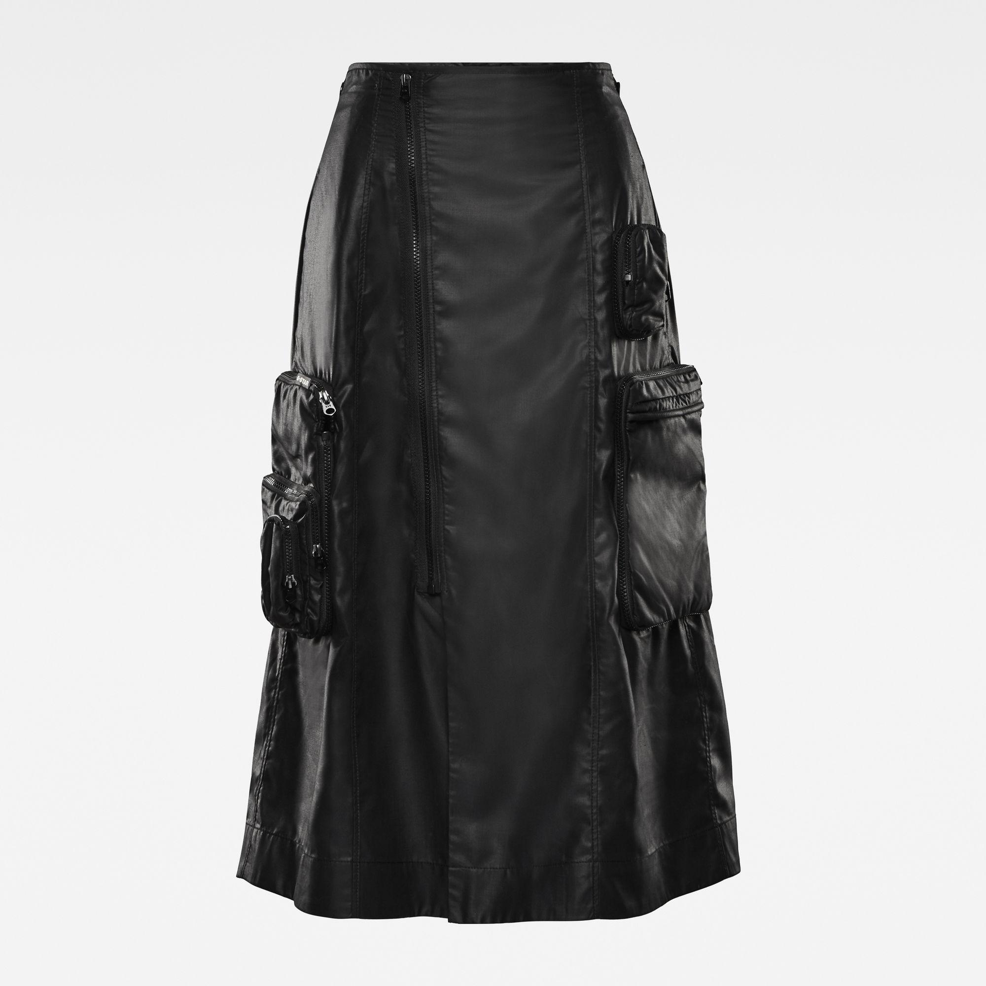 G-Star RAW Dames E Utility 3D Pocket Midi Skirt Zwart