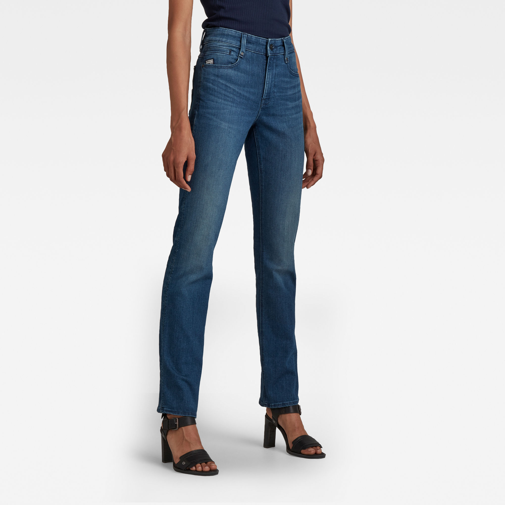 G-Star RAW Dames Noxer Straight Jeans Blauw