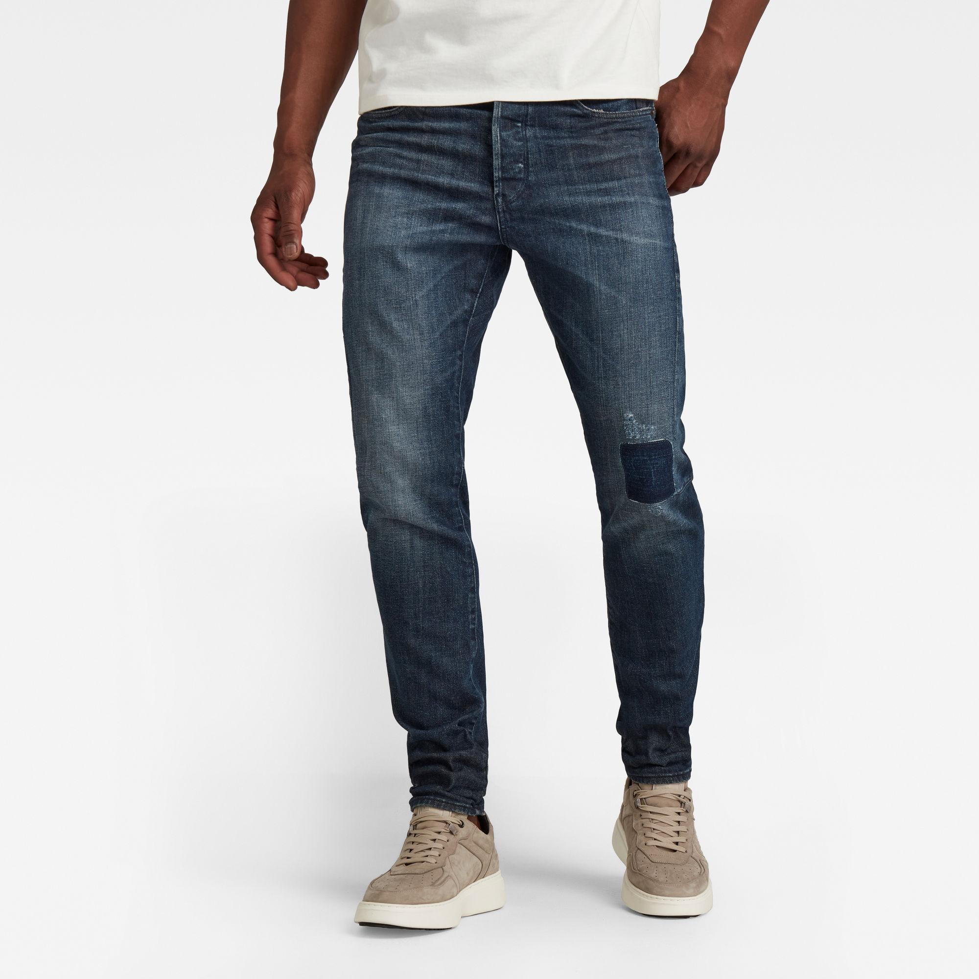 G-Star RAW Heren Scutar 3D Slim Jeans Donkerblauw