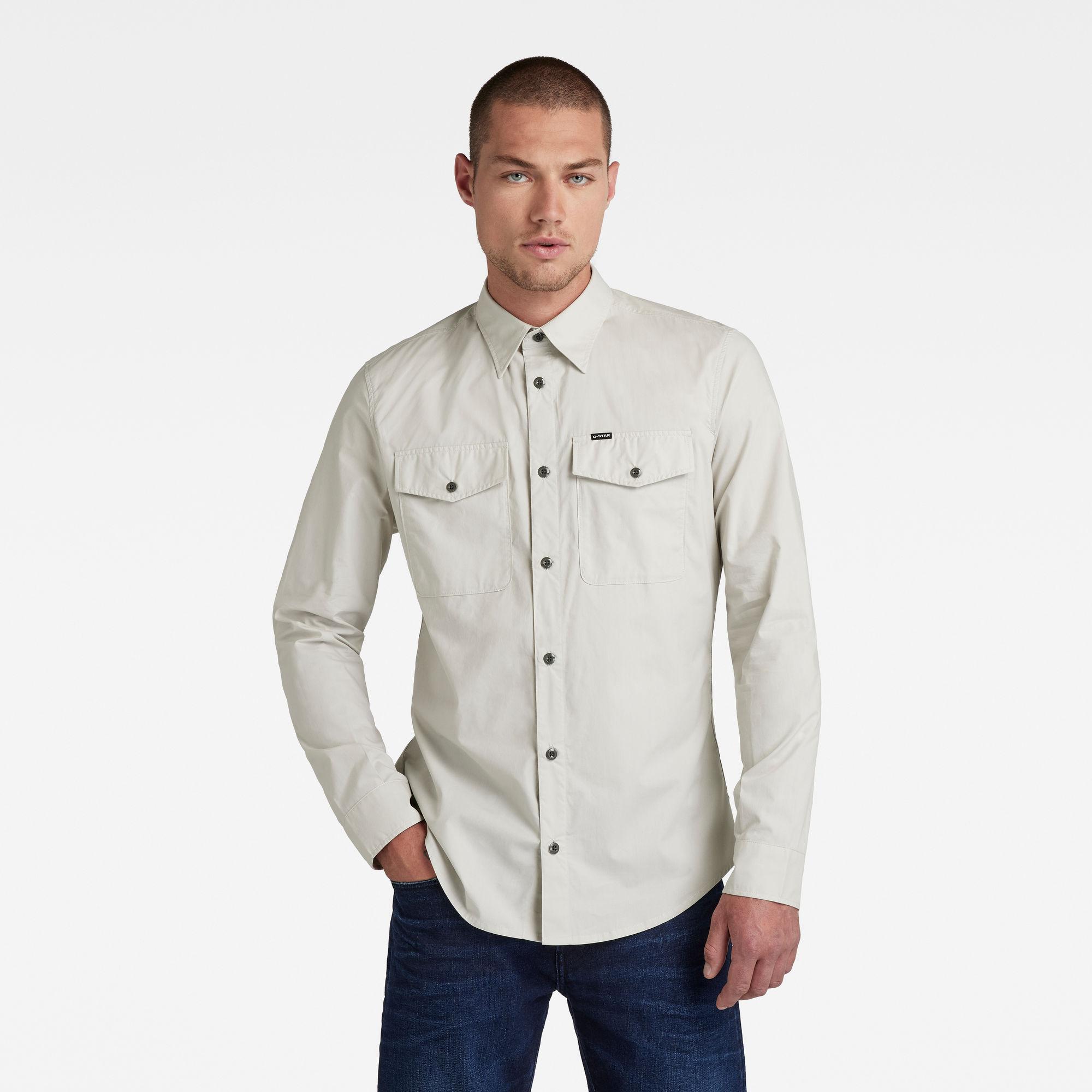 G-Star RAW Heren Marine Slim Shirt Lichtblauw