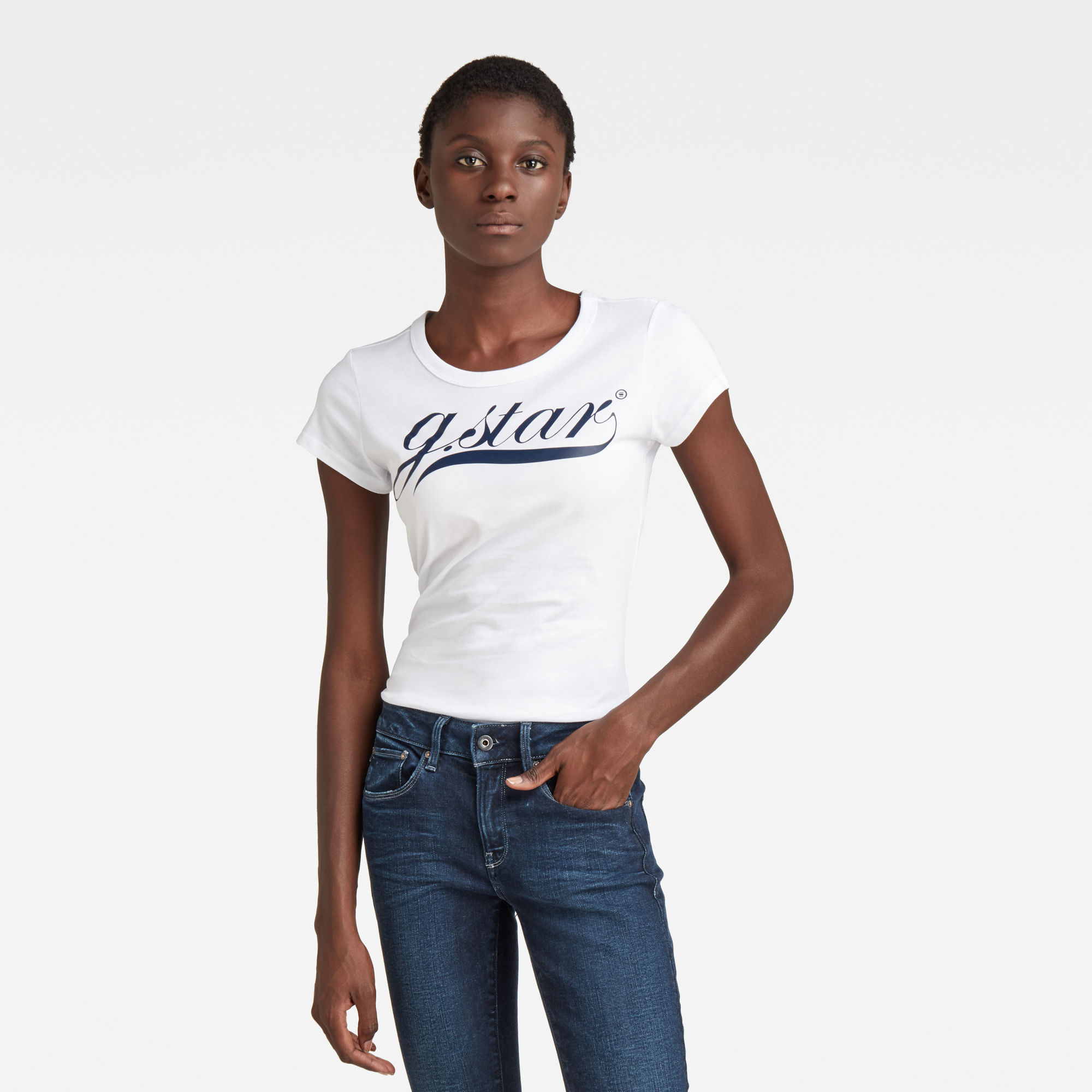 G-Star RAW Dames Graphic 3 Top Wit