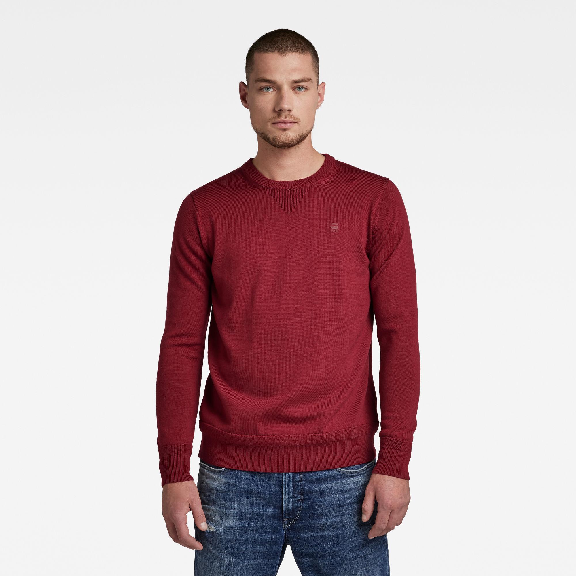 G-Star RAW Heren Premium Basic Knitted sweater Rood