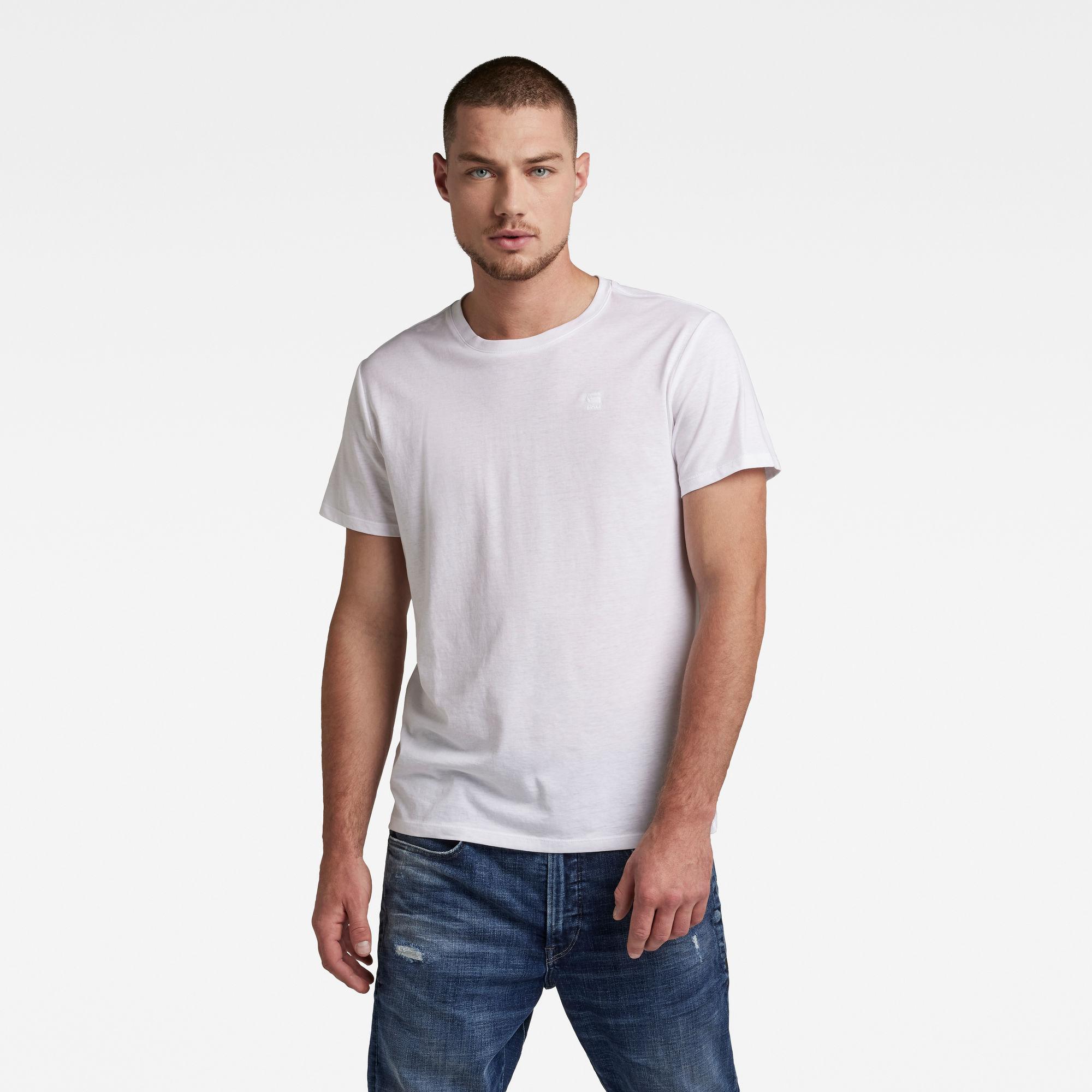 G-Star RAW Heren Basic T-Shirt 2-Pack Wit