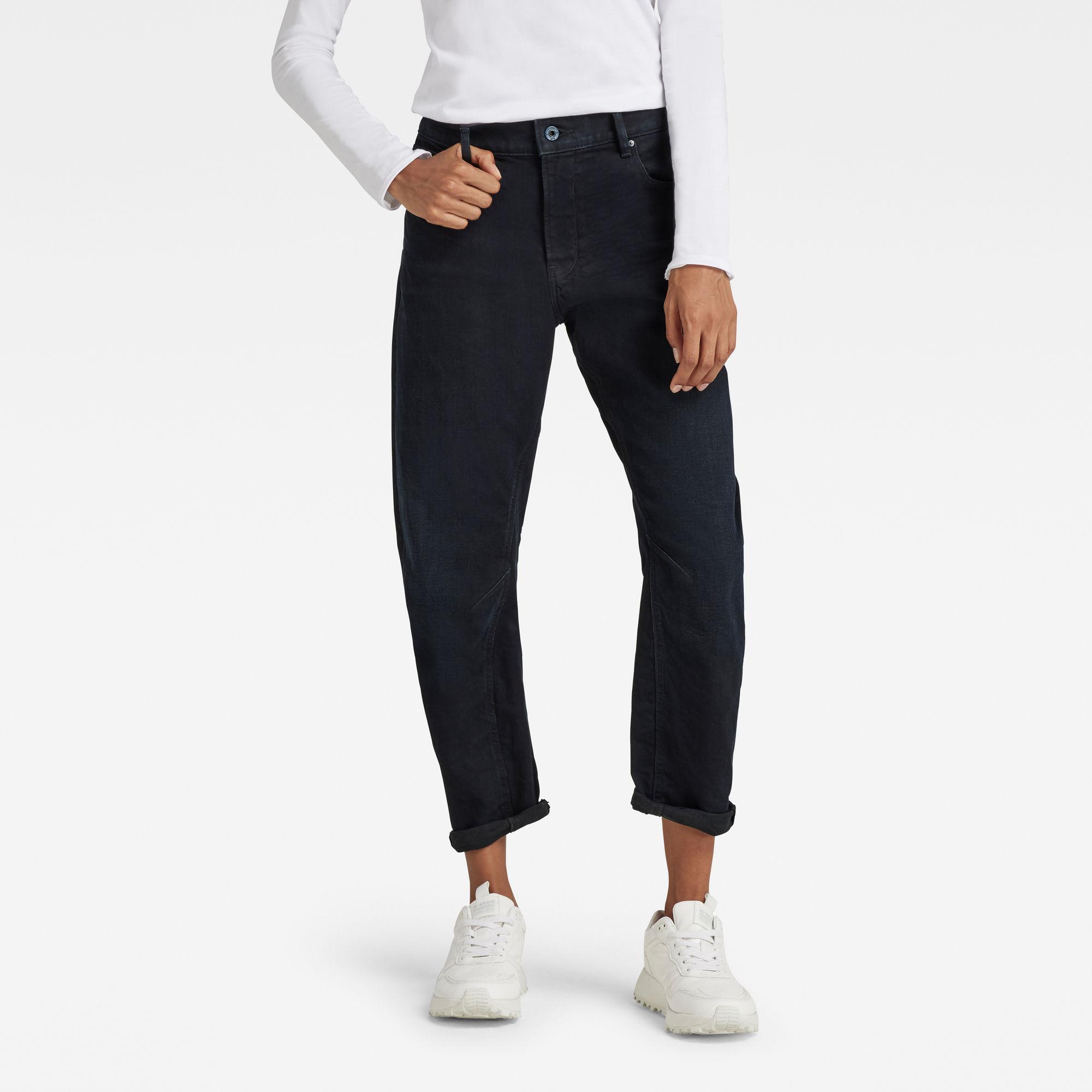 G-Star RAW Dames Arc 3D Boyfriend jeans Donkerblauw