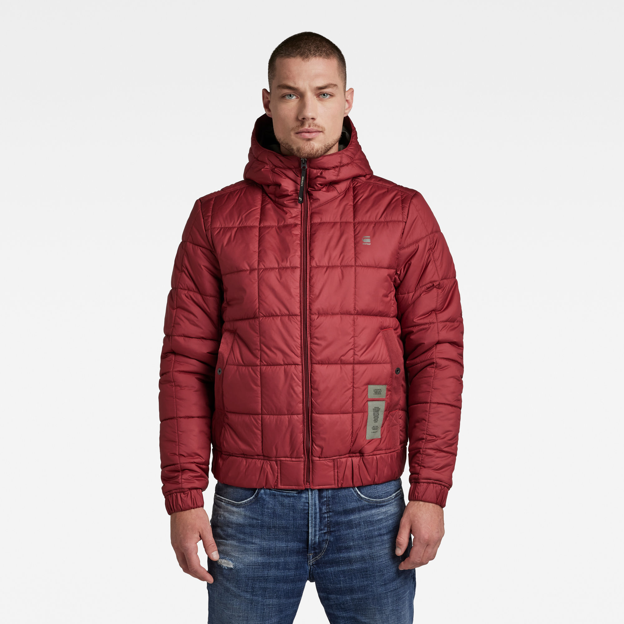 G-Star RAW Heren Jack Meefic Square Quilted Rood
