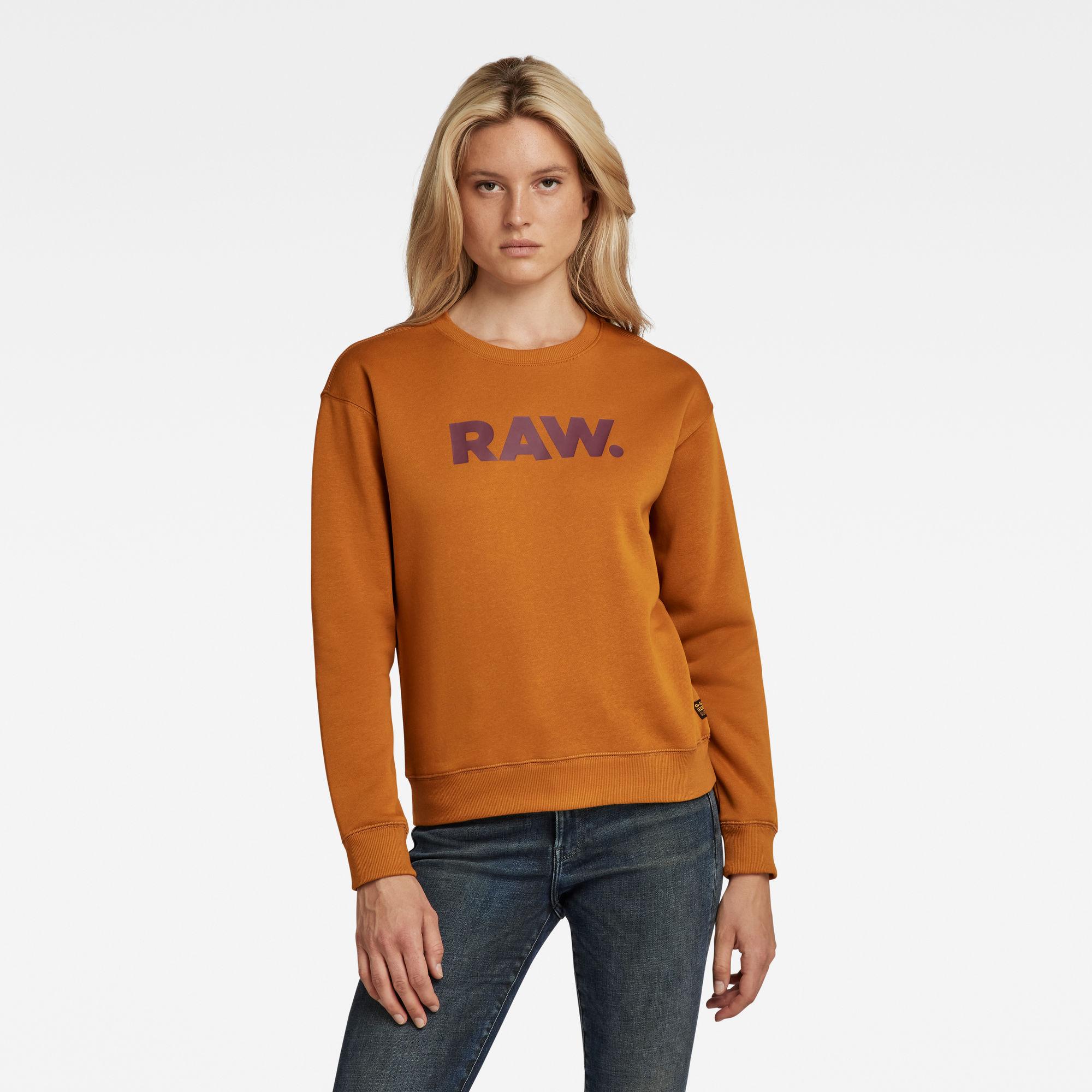 G-Star RAW Dames Premium Core RAW. Sweater Geel
