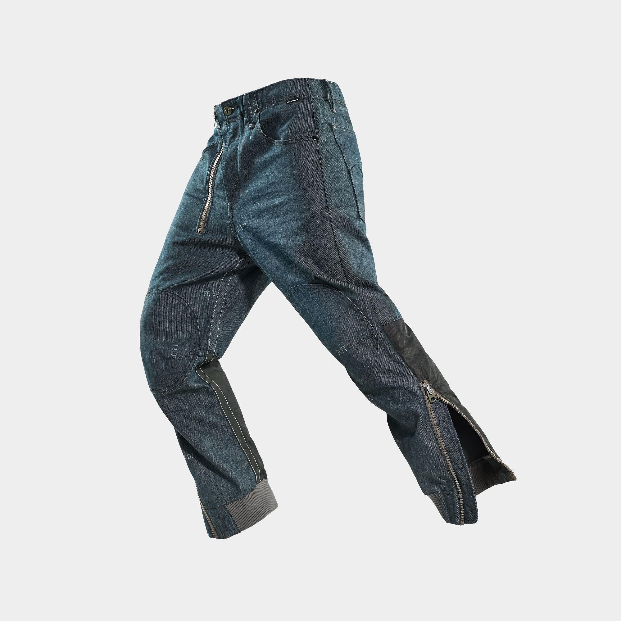 G-Star RAW Hombre Jeans GSRR 3D Pilotte Cuffed Azul oscuro