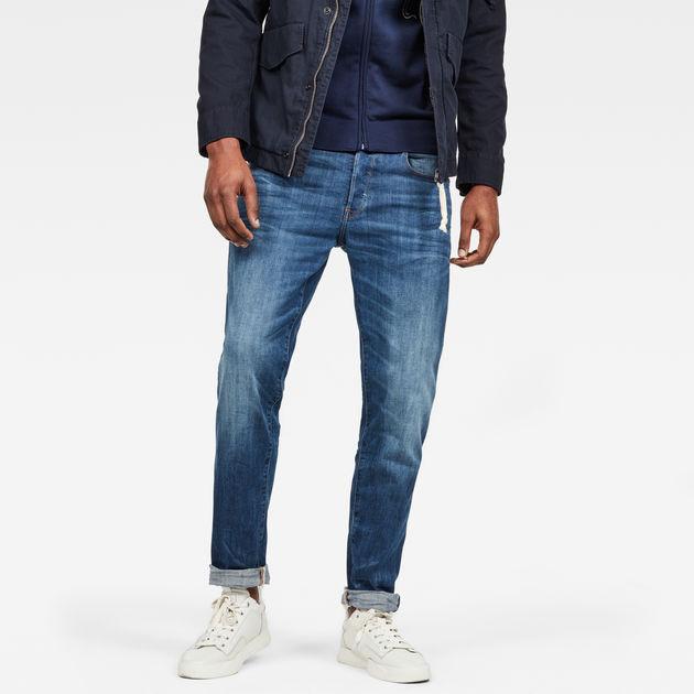 Raw® Tapered Indigo Jeans Aged G Medium 3301 Star Straight PZvxq5w8