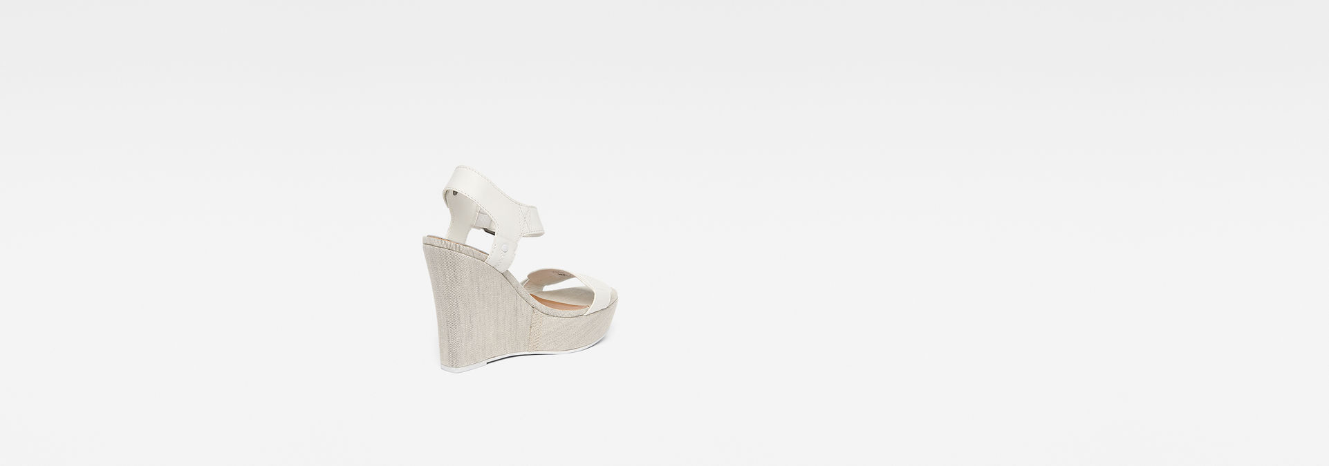 Star Wedge SandalsWhite Femmes G Raw® Claro 34jLR5A
