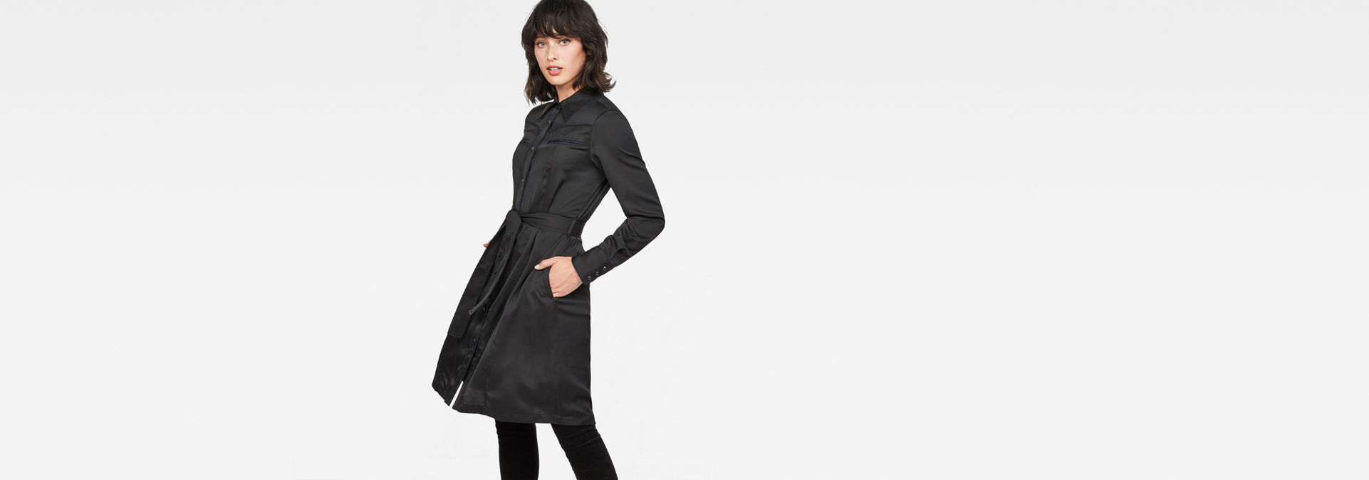 Shirt Raw® Tacoma Flare DressDark G Star Straight Black W2bE9IYHDe