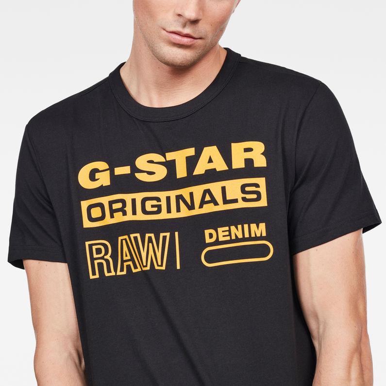 Shirt Swando Regular Black Raw® G Star T Dk Graphic ttpqwP