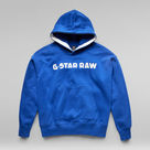 G-Star RAW® Unisex Embro Hoodie Medium blue