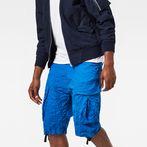 G-Star RAW® Rovic Loose 1/2-Length Cargo Shorts Medium blue model front