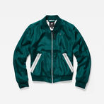 G-Star RAW® Strett Slim Bomber Green model front