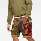 G-Star RAW® Rovic Mix Loose Shorts Green model front