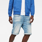 G-Star RAW® D-Staq 3D 1/2-Length Shorts Medium blue front flat