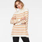 G-Star RAW® Deline Breton Turtle Knit White model front