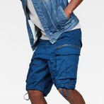 G-Star RAW® Rovic Zip Relaxed 1/2 Shorts Dark blue model front