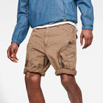 G-Star RAW® Rovic Airforce Relaxed Short Beige model front