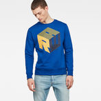 G-Star RAW® Graphic 6 Core Sweater Medium blue model front
