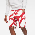 G-Star RAW® Hyce Relaxed Sweatshort Red model front