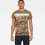 G-Star RAW® Graphic 14 T-shirt Green model front