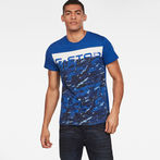 G-Star RAW® Graphic 14 T-shirt Medium blue model front