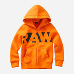 G-Star RAW® Hooded Cardigan Red model front