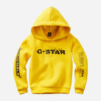 G-Star RAW® Hooded Sweater Yellow model front
