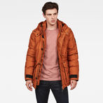 G-Star RAW® Vodan Hooded Jacket Brown model front