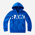 G-Star RAW® Hooded Cardigan Medium blue model front