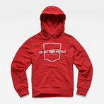 G-Star RAW® Hooded Sweater Red model front
