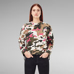 G-Star RAW® Loose Fit Camo All Over Sweater Multi color