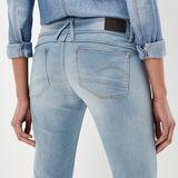 G-Star RAW® Jean Lynn Mid Waist Skinny Bleu clair
