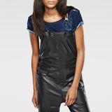 G-Star RAW® Type C Leather Salopette Black flat back