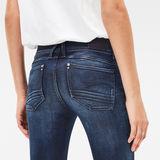 G-Star RAW® Lynn Zip Mid Waist Skinny Jeans Bleu foncé