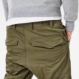 G-Star RAW® Rackam Tapered Cargo Pants Green model back zoom