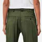 G-Star RAW® Bronson Mid Waist 3D Loose Pleat Chino Green model back zoom