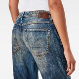 G-Star RAW® 3301 Quilted Denim Mid Waist Boyfriend 7/8 Jeans Medium blue