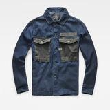 G-Star RAW® Type C Army Overshirt Dark blue flat front