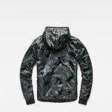 G-Star RAW® Strett Padded Hooded Overshirt Green model side