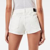 G-Star RAW® 3301 Moto-Restored Mid Waist Shorts White front flat