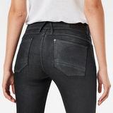 G-Star RAW® Lynn Mid Waist Skinny Jeans Noir