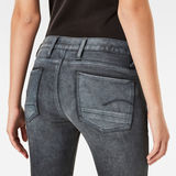 G-Star RAW® Motac Deconstructed 3D Mid Waist Skinny Jeans Grey