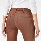 G-Star RAW® 5620 G-Star Elwood Staq 3D Mid Waist Skinny Color Jeans Brown