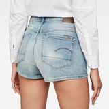 G-Star RAW® 3301 Ultra High-Waist Shorts Medium blue front flat
