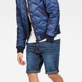 G-Star RAW® Type C 3D Sport 1/2-Length Shorts Dark blue model front