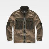 G-Star RAW® Type C Utility Tone-Mix Jacket Green flat front