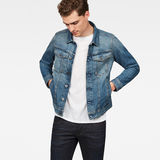 G-Star RAW® 3301 Deconstructed Slim Jacket Medium blue model front